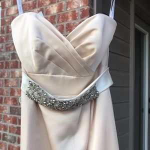 Alfred Angelo Dresses - Champagne Sweetheart Gown, With Sash